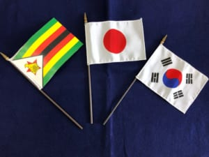 Japan-Korea-Zimbabwe Online International Exchange 本学留学生とOnline交流しました